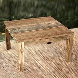 Handcrafted Reclaimed Teakwood 'Minimalist Kuta' End Table(Indonesia)