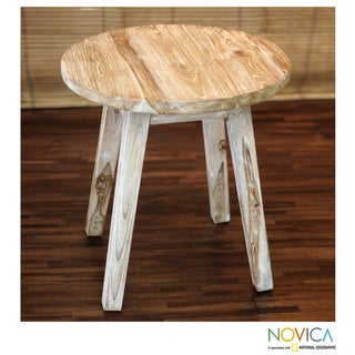 Handcrafted Teakwood 'Old Town' Accent Table (Indonesia)