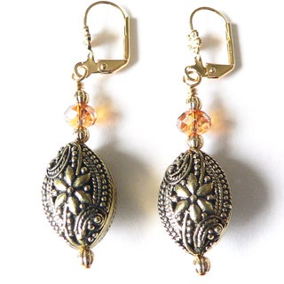'Simone' Crystal Dangle Earrings