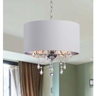 Indoor 3-light White/ Chrome Pendant Chandelier