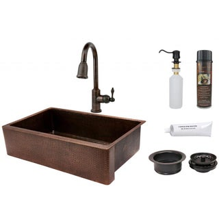 Premier Copper Products Pull Down Faucet Package