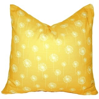 Taylor Marie Studio Corn Yellow 'Field of Dandelions' Throw Pillow Cover