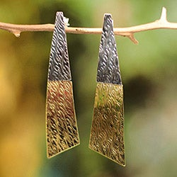 Sterling Silver and Bronze 'Radiance' Earrings (Peru)