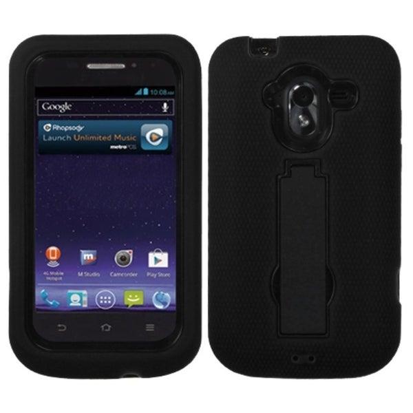 INSTEN Black/ Black Phone Case Cover for ZTE N9120 Avid 4G
