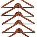 ClutterFree Mahogany Wood Cascading Hanger 40-piece Set