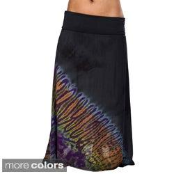 Mudmee Tie Dye Long Gypsy Skirt (Nepal)