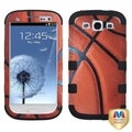 BasAcc Basketball/ Black Hybrid Case for Samsung Galaxy S III/ S3