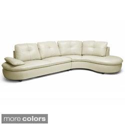 Baxton Studio Hilaria Leather Modern Sectional Sofa