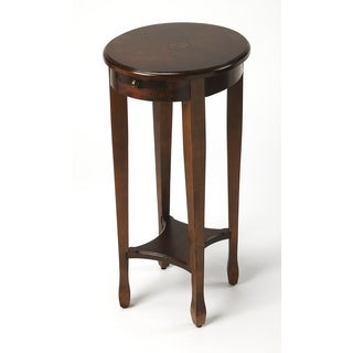Chestnut Burl Round Accent Table