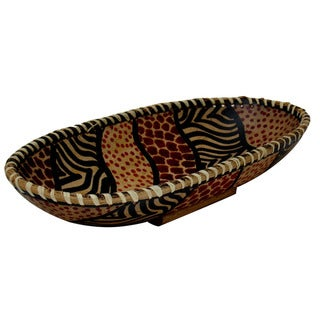 Oval Animal Skin Pattern Bowl (Kenya)
