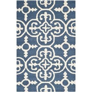 Safavieh Handmade Cambridge Moroccan Navy Oriental Wool Rug