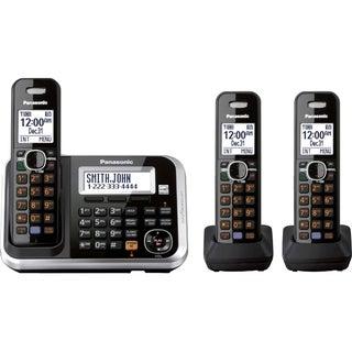 Panasonic KX-TG6843B DECT 6.0 1.90 GHz Cordless Phone - Black