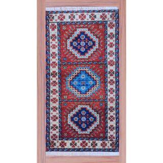 Indo Hand-knotted Kazak Peach/ Ivory Wool Rug (2'2 x 4')