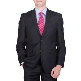 Men's Slim Fit Black 2-Button Suit