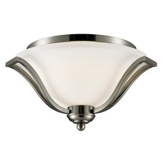 Lagoon Brushed Nickel 3-light Ceiling Lamp Light