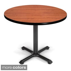 Ofm xt 36 inch black base round table for Table 99 restaurant