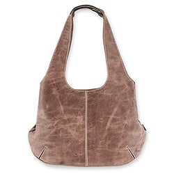 Handcrafted Leather 'Urban Honey' Large Hobo Handbag (Mexico)
