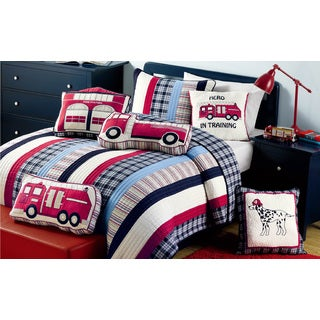 Ronnie Varsity Striped Twin size 3-piece Quilt