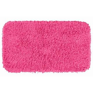 Somette Quincy Super Shaggy Pink Washable 30 x 50 Bath Rug