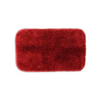 Somette Posh Plush Garnet Washable Bath Rug