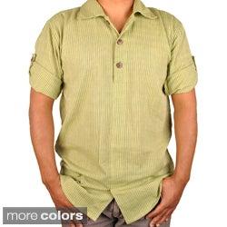 Stripe Earth Tone Buttoned Shirt (Nepal)