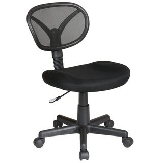 Office Star Products Work Smart Breathable Screen Back ArmlessTask Chair