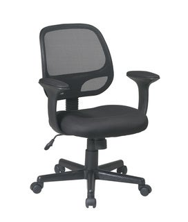 Office Star Products Work Smart Breathable Screen Back Task Chair