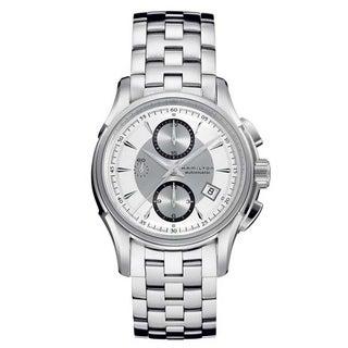 Hamilton Men's 'Jazzmaster Auto Chrono' Silvertone Watch