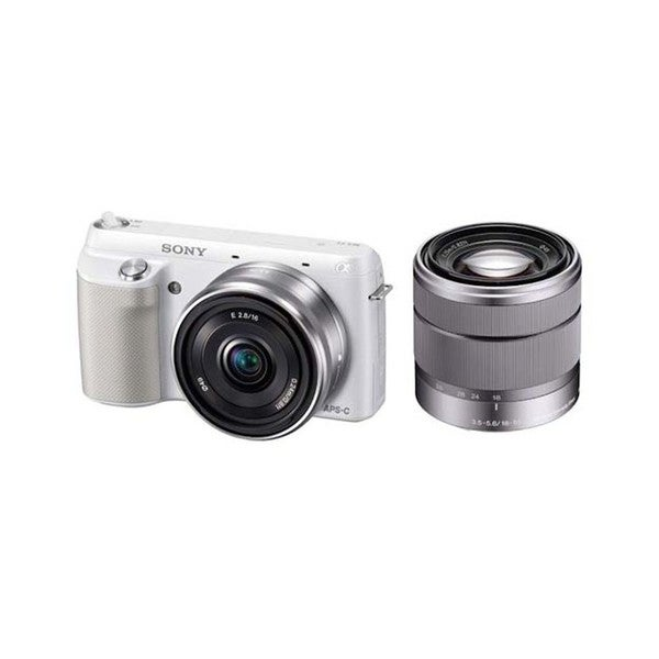 Sony Alpha NEX-F3 16.1MP Mirrorless White Digital Camera with 18-55mm Lens