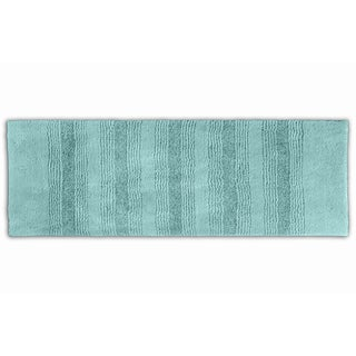 Somette Westport Stripe Sea Glass Washable 22 x 60 Bath Runner