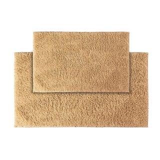 Somette Grace Natural Cotton 2-piece Bath Rug Set