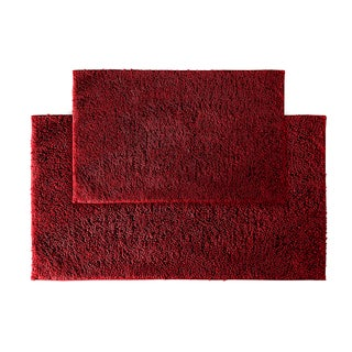 Somette Grace Chili Pepper Red Cotton 2-piece Bath Rug Set
