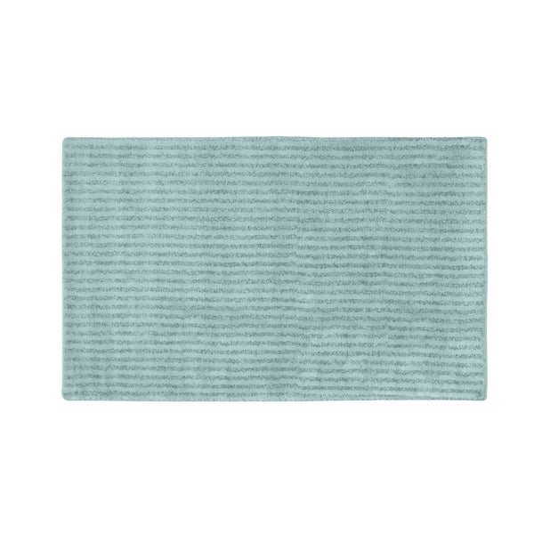 Victoria S Souk Rug: Somette Xavier Stripe Sea Foam 30x50 Bath Rug