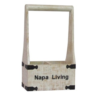 Countryside Distressed Wood 2-Bottle Wine Holder