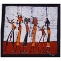 &#39;Going Home&#39; Batik Wall Hanging (Mozambique)