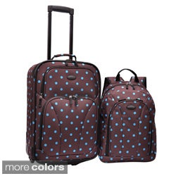 U.S. Traveler by Traveler's Choice 2-Piece Polka Dot Carry-On and Backpack Luggage Set