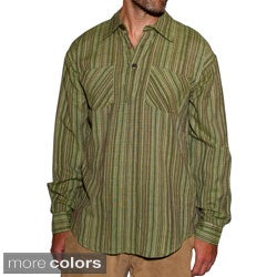 Cotton Men's Stripe Cotton Shirt (Nepal)