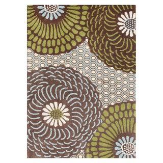 Alliyah Handmade Friar Brown New Zealand Blend Wool Rug (9' x 12')