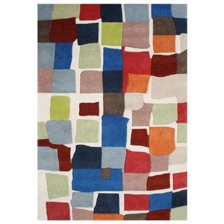 Alliyah Handmade Lambs Wool New Zealand Blend Wool Rug (9' x 12')