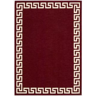Barclay Butera by Nourison Kaleidoscope Greek Border Spice Rug (5'3 x 7'5)