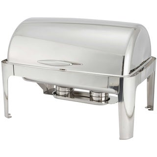 Winco 8-Quart Madison Stainless Steel Rectangular Roll Top Chafing Dish