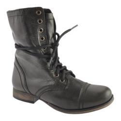 Women's Steve Madden Troopa Black Leather