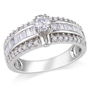 Miadora 14k White Gold 1ct TDW Baguette Cut Diamond Ring (G-H, I1-I2)