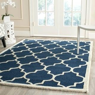 Safavieh Handmade Cambridge Moroccan Navy Indoor Wool Rug (5' x 8')