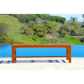Vifah Backless Three Seater Wood Outdoor Bench