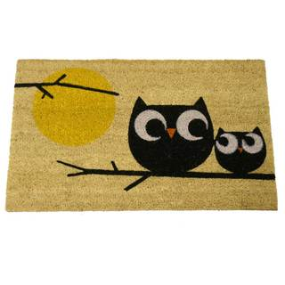 Rubber-Cal 'Affection Owl Doormat' Coir Fiber Mat (18 x 30)