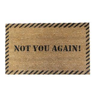 Rubber-Cal 'Not You Again' Coir Outdoor Door Mat