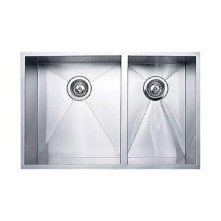 Ukinox DS400.60.40 60/40 Double Basin Stainless Steel Undermount Kitchen Sink