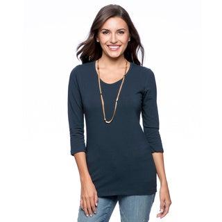 modbod Women's Basic 3/4-sleeve