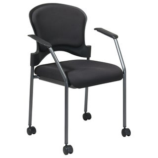 Pro-Line II Black Contoured Rolling Visitor's Chair